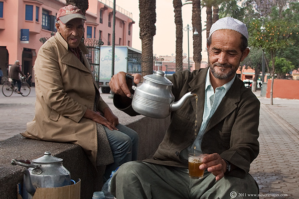 I could see this person from my balcony every day from early morning until late evening selling tea to the locals.