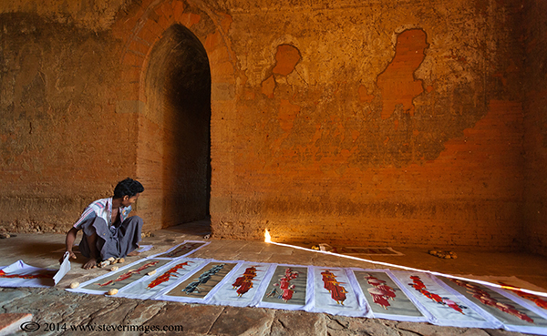 Temple, Bagan, temple seller, photo