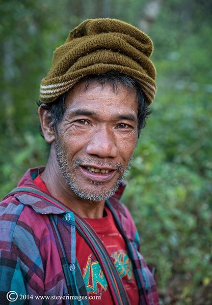 Portrait, Burmese man, photo