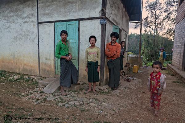Burmese people, local village Burma, photo