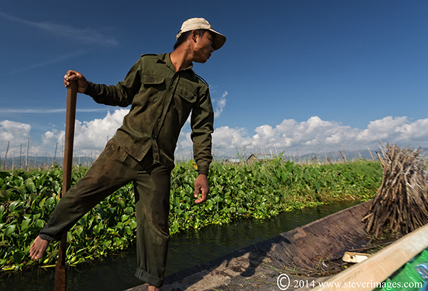 Difficult to get decent images of people and boats at lake Inle as we were travelling at speed over the lake or when the...