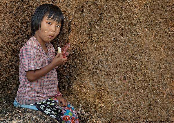 child eating snack, photo