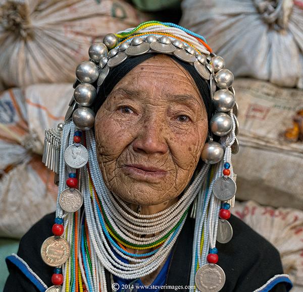 Portrait, elderly woman, Burma (Myanmar), photo