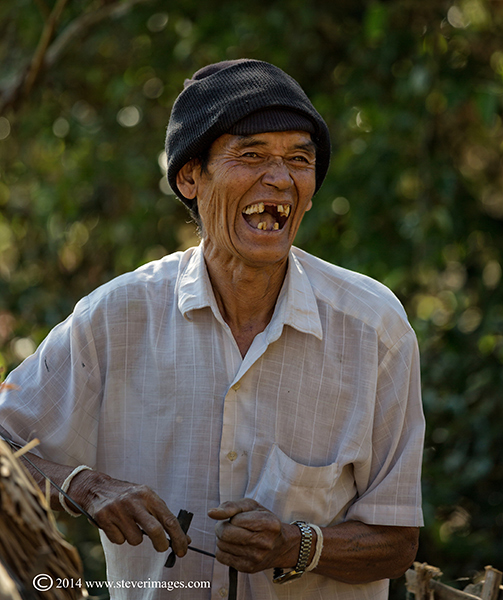 This image and the next two are some of the characters we meet in Burma