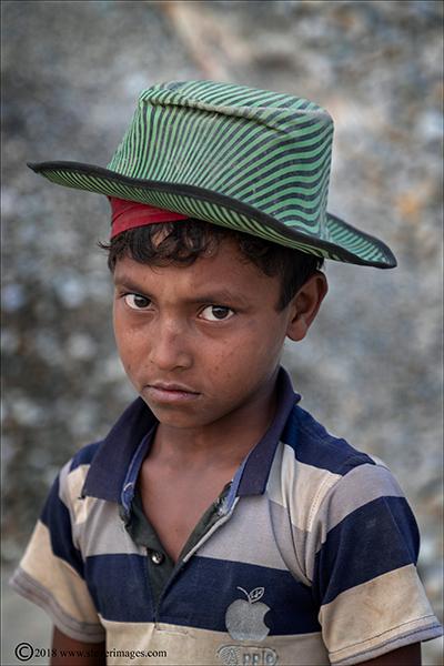 Child portrait, Stone quarry Bangladesh, photo
