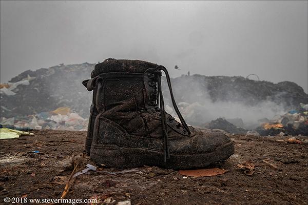 Rubbish dump, Boots, Bangladesh, photo