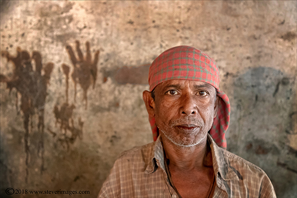 indoor male worker portrait, Bangladesh, photo