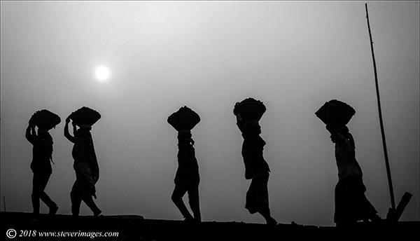 Coal carriers, Bangladesh, photo