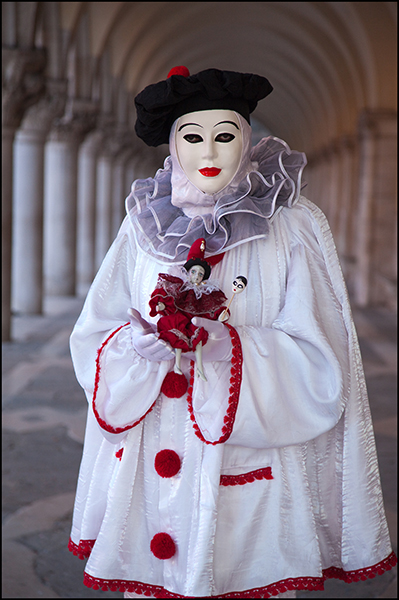 Venice Carnival, Clown,Venice, photo