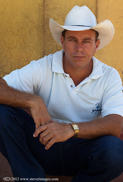 Cowboy, Trinidad, Cuba, photo