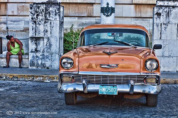 Classic car, Havana, Cuba, Image of classic car, Havana Cuba
