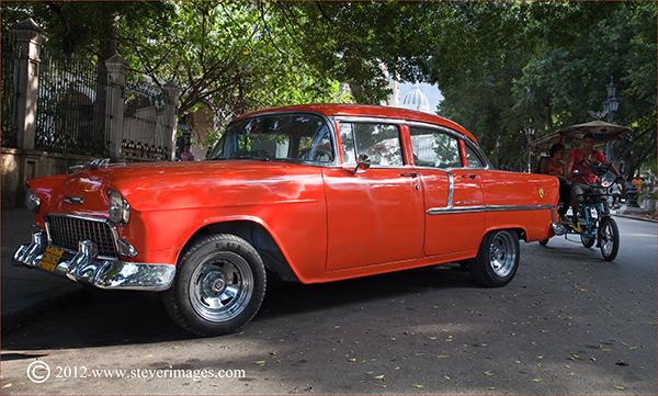 Classic Car, Havana, Cuba, Image of clasdsic car in Havana