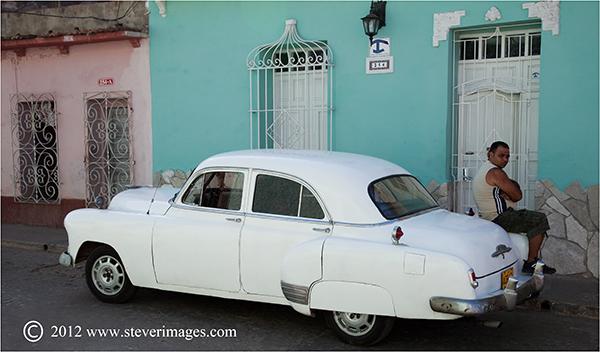 Classic car, Trinidad, Cuba, Image of classic car in Trinidad