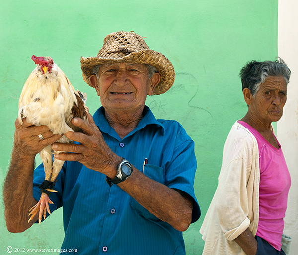 This person was a one of a number of people who either dressed up in traditional costume or had a chicken ready to hand to photograph...