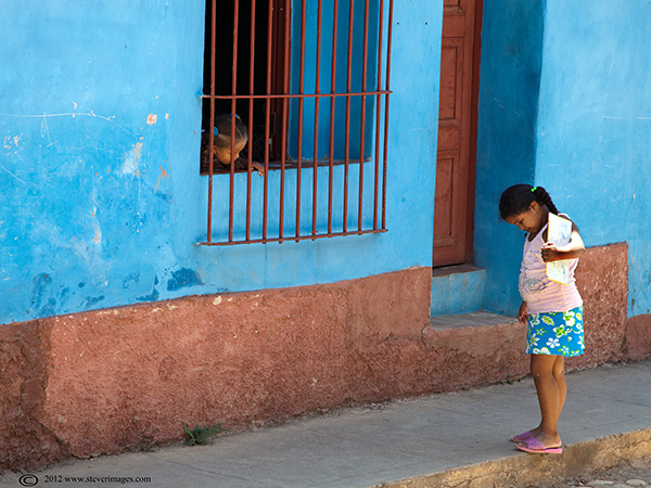 Children, streets of Trinidad Cuba, photo