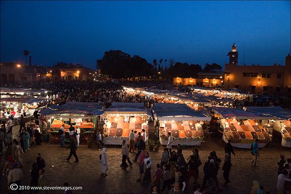 Djemaa-el-Fna square, Marrakech, Morocco, photo