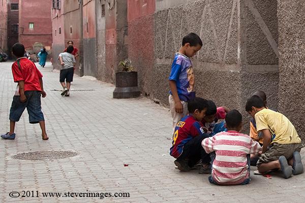 backstreets of Marrakech, at play