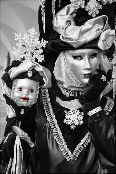 Venice Carnival,Venice, Black and Silver , photo