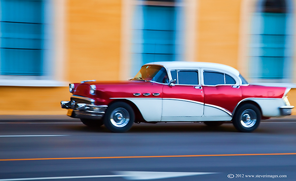 Car, Cuba, Speeding car