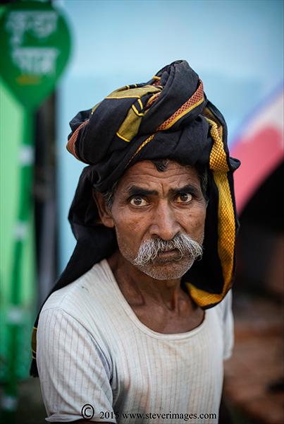 Portrait, Indian Man, Sonepur Mela , photo