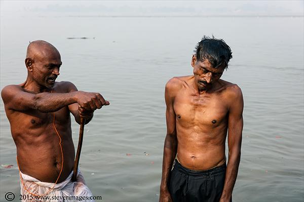 Ganges, Water, Indian men, Sonepur Mela, India, photo