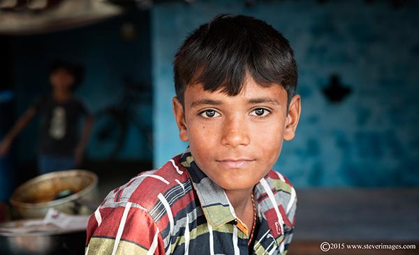 Portrait, Indian boy, Sonepur Mela, India, photo