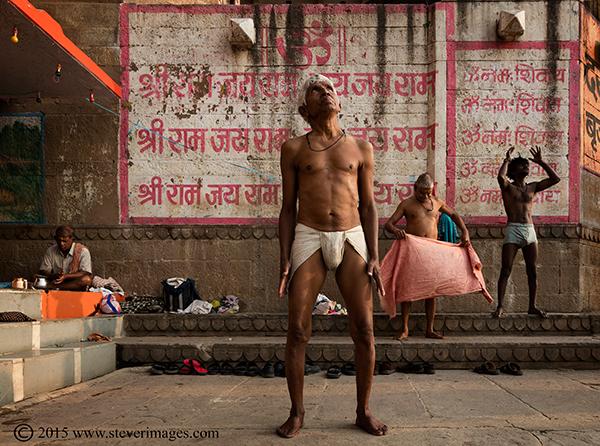 Exercise, Varanasi India, photo