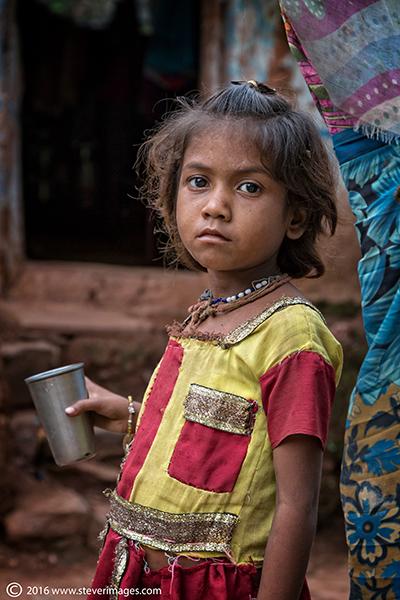 Portrait, Indian child, photo