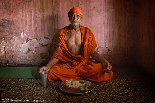 Portrait of Holy Man, India, photo