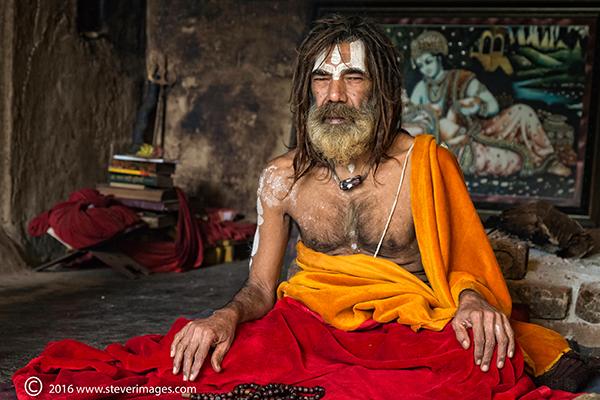 Portrait, Holy Indian Man, photo