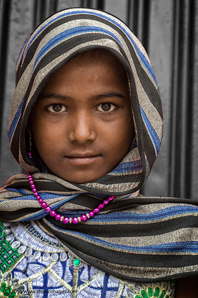 Portrait, young Indian girl, photo