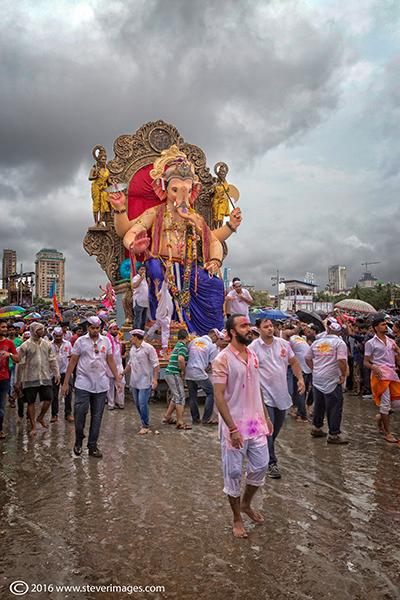 Ganesh procession, Mumbai, India, photo