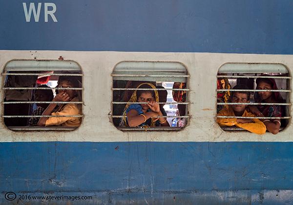 Train station, India, photo