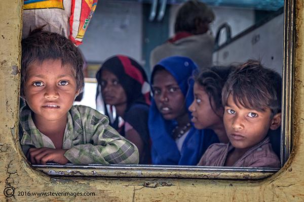 Train station, India , children, photo