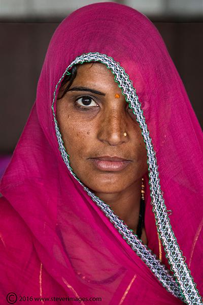 Portrait, Indian woman, photo