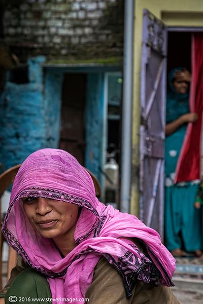 Portrait, Veiled Indian woman, photo