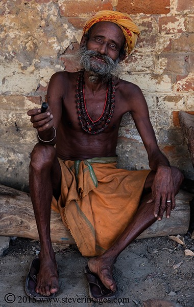 Portrait, Holy man, Varanasi India, photo