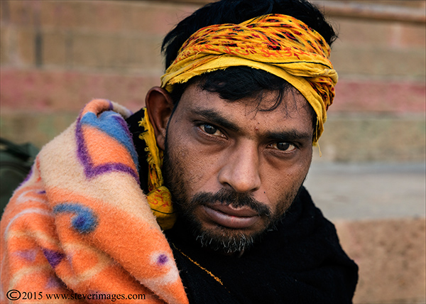 Pilgrim, Man, Portrait, Varanasi, India, photo
