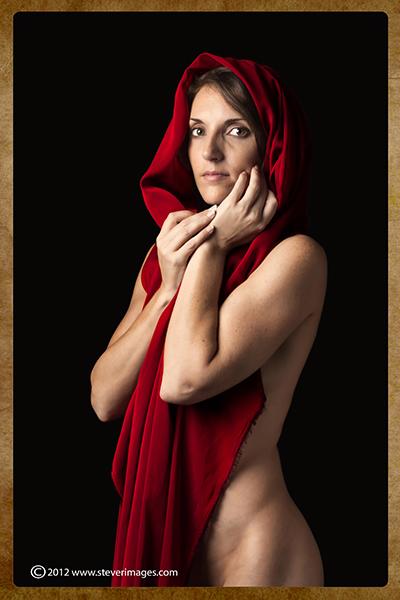 Red,nude, studio shot , photo