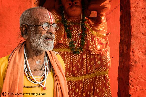Hindu, Man, Holy man, Varanasi, Religious festival, India, photo
