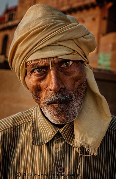 Man, portrait, Varanasi, photo