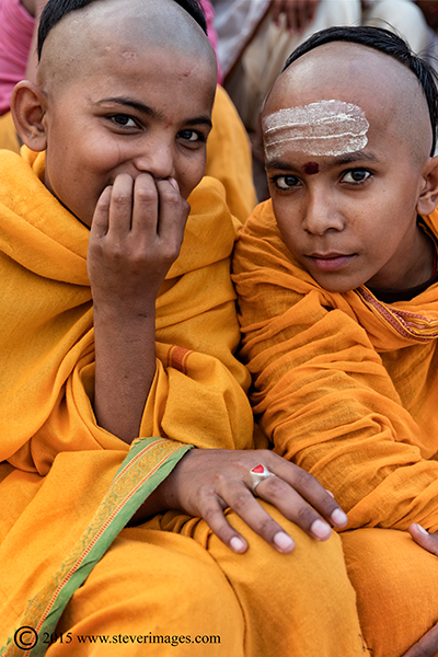 two monks in Yellow, photo