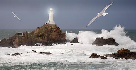 La Corbiere Lighthouse, Seascape, Jersey, photo