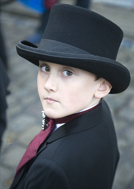 This young man's imagewas taken at the Goth Festival in 2008