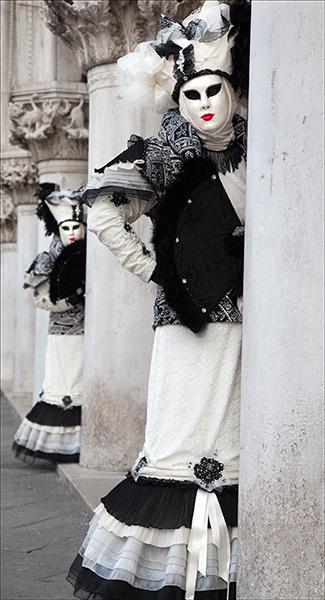 Venice Carnival, Venice, Black and White,, photo