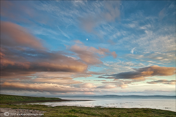 Moonrise, Lindisfarne, Holy Island