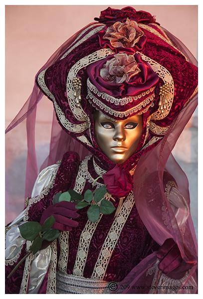 Venice Carnival, Red Rose, Venice, photo