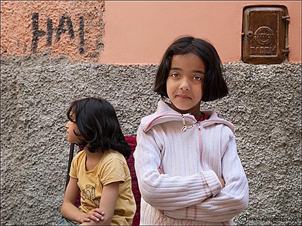 Ha!, Djemaa-el-Fna, young children, photo