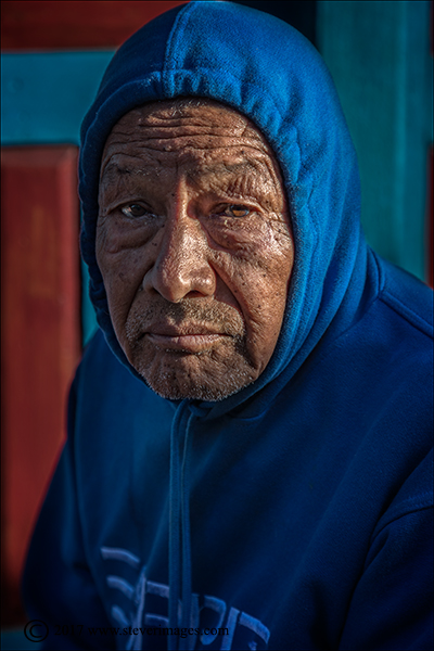 Portrait, Red and Blue, Nepal , photo