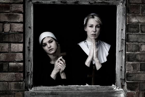prayers, Nuns, Abandoned,cross, photo